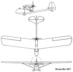 gruse bo15 1 3v model airplane plan