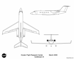 gulfstream iii model airplane plan