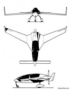 gyroflug speed canard model airplane plan