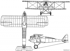 halberstadt dii germany model airplane plan