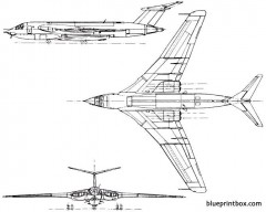 handley page hp80 victor 1952 england model airplane plan