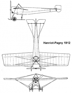hanriot1912 3v model airplane plan