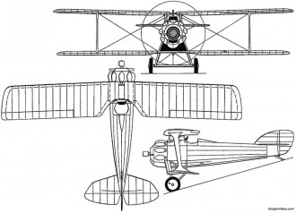 hanriot h31 1925 france model airplane plan