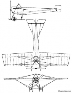 hanriot pagny 1912 model airplane plan