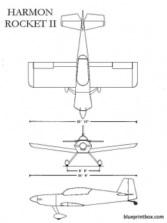 harmon rocket 2 model airplane plan