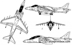 harrier gr7 model airplane plan