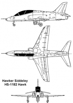 hawker1182 hawk 3v model airplane plan