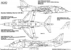 hawker harrier model airplane plan