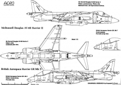 hawker harrier 7 model airplane plan