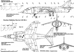 hawker harrier 9 model airplane plan