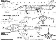 hawker harrier 9 model airplane plan