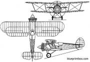 hawker hawfinch 1927 england model airplane plan
