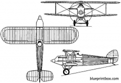 hawker hornbill 1925 england model airplane plan
