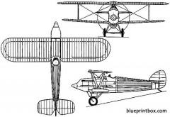 hawker hornbill 1925 england model airplane plan