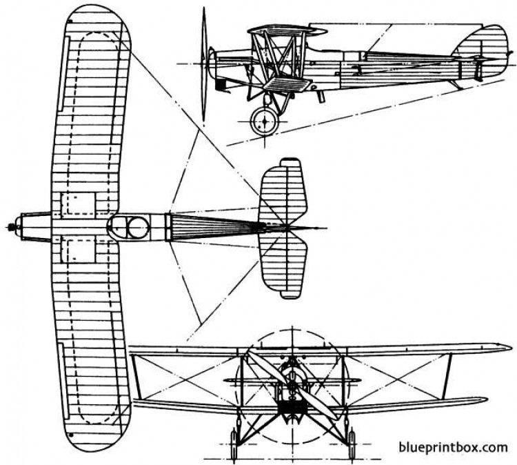 hawker horsley 1925 england model airplane plan
