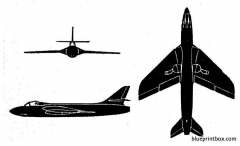 hawker hunter f mk1 model airplane plan