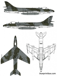 hawker hunter f mk5 model airplane plan