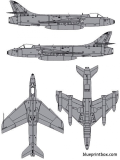 hawker hunter gamk11 model airplane plan
