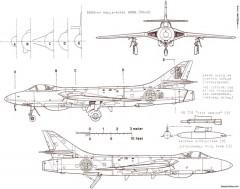 hawker hunter j 34 2 model airplane plan