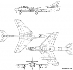 hawker hunter mk 6 model airplane plan