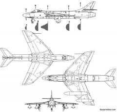 hawker hunter mk 6 2 model airplane plan