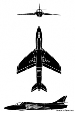hawker hunter mk 7 model airplane plan