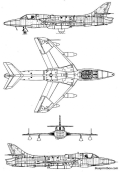 hawker hunter t 8 model airplane plan