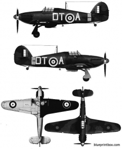 hawker hurricane mk i model airplane plan