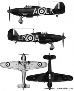 hawker hurricane mk i 2 model airplane plan