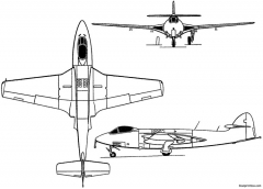 hawker sea hawk 1947 england model airplane plan