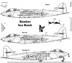 hawker sea hawk 2 model airplane plan