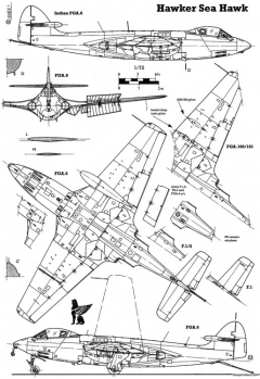 hawker sea hawk 4 model airplane plan