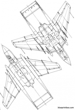 hawker sea vixen model airplane plan