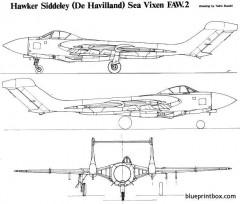 hawker sea vixen 2 model airplane plan