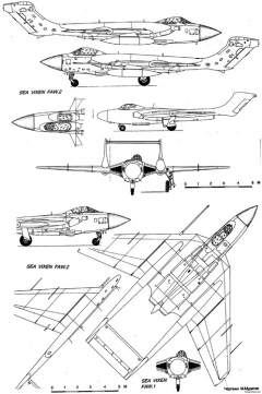 hawker sea vixen 3 model airplane plan
