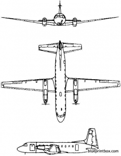 hawker siddeley avro hs748 andover 1960 england model airplane plan
