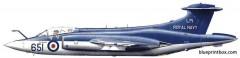 hawker siddeley buccaneer smk2c model airplane plan