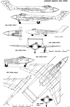 hawker siddeley sea vixen model airplane plan