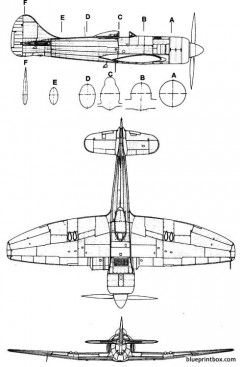 hawker tempest mk ii model airplane plan