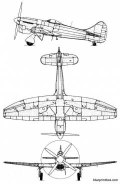 hawker tempest mk v model airplane plan
