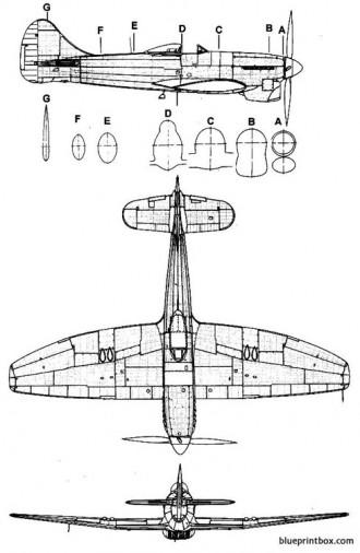 hawker tempest mk v 2 model airplane plan