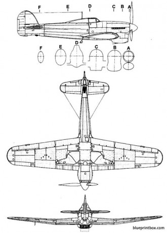 hawker typhoon mk ia 2 model airplane plan