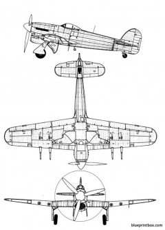 hawker typhoon mk ib model airplane plan