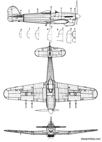 hawker typhoon mk ib 2 model airplane plan