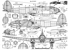 he111 1 3v model airplane plan