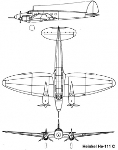 he111c 3v model airplane plan