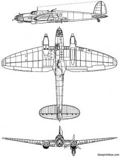 heinkel he 111 b model airplane plan