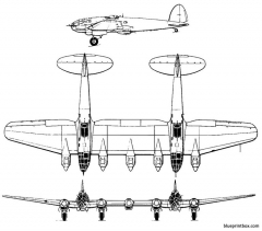 heinkel he 111z model airplane plan