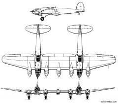 heinkel he 111z model airplane plan