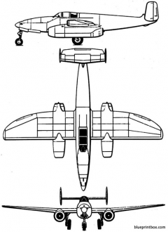 heinkel he 280 model airplane plan